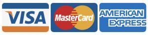 Accettiamo pagamenti con visa, mastercard, american express